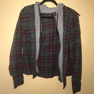 Sweaters - Flannel designed sweatshirt